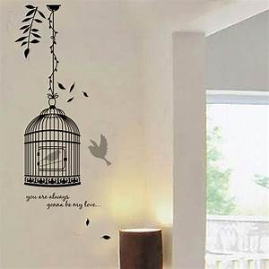 Quote Birdcage Wall Decal Decoration Room Stickers Vinyl