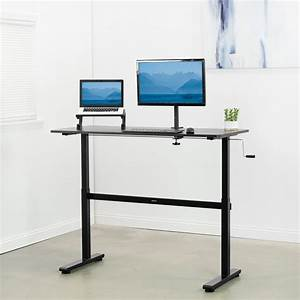 Used Manual Crank Stand Up Height Adjustable Desk Frame