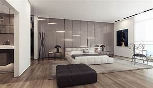 3 white platform bed gloss feature wall interior design With interior design bedroom feature wall