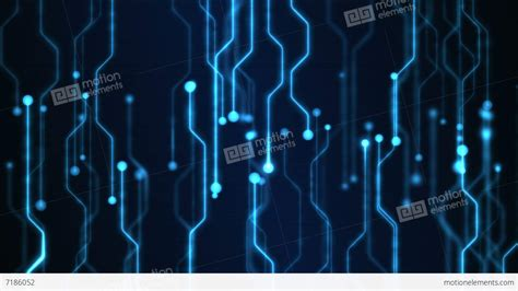 Animated Tech Wallpaper - abstract technology circuit background animation loop