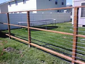 yardfencedesigns house fencing ideas big space house With cheap dog fence wire