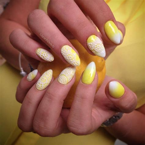 stunning yellow nail designs   ready