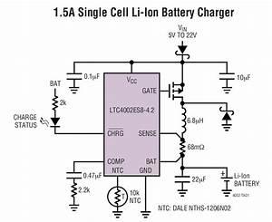 Ltc4002 1 5a Single Cell Li