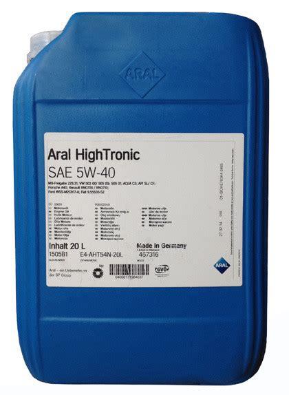aral hightronic 5w 40 aral hightronic 5w 40 20л продажа цена в львові моторні оливи от quot интернет магазин masloshop