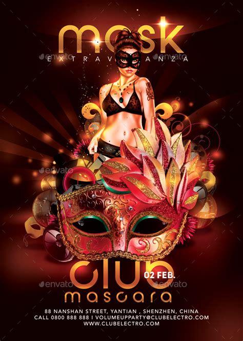 mask extravaganza party  club flyer  nn graphicriver