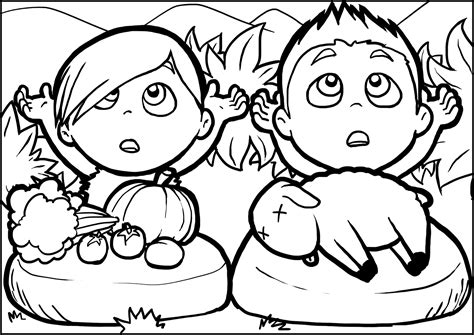 Cain And Abel Coloring Page - Sanfranciscolife
