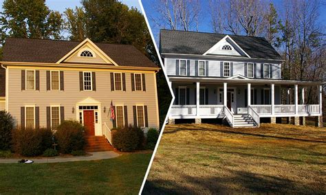 cost of adding a front porch colonial farmhouse with front porch decoto