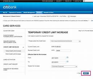 Request Credit Line Increase Credit Card Limit Increase Credit Card Limit Citibank