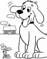 Coloring Dog Pages Printable Clifford Fluffy Sled Cooking Dirty Drawing Colouring Sheet Getcolorings Birthday Firehouse Getdrawings Emily Cake Cowardly Courage sketch template