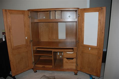 woodwork computer armoire woodworking plans  plans
