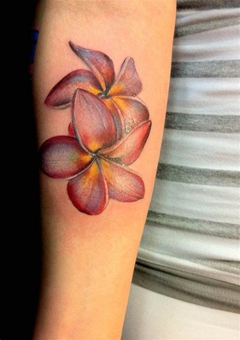 lovely red plumeria tattoo tattoomagz tattoo designs