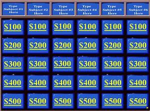 jeopardy powerpoint templates powerpoint templates With free powerpoint game templates for teachers