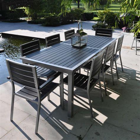 table et chaise de salon mobilier de jardin teck beau salon de jardin table et