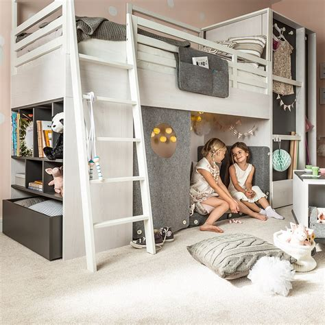 Cabin Beds by Vox Nest Cabin Bed In Larch Effect Graphite Vox