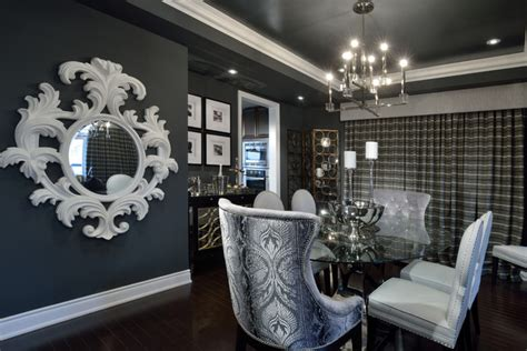 Bold, Sexy & Dramatic Living Room  Traditional Dining