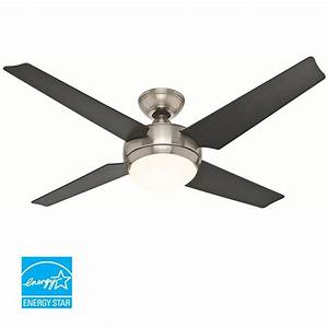 Hunter quot low profile hugger ceiling fan w light