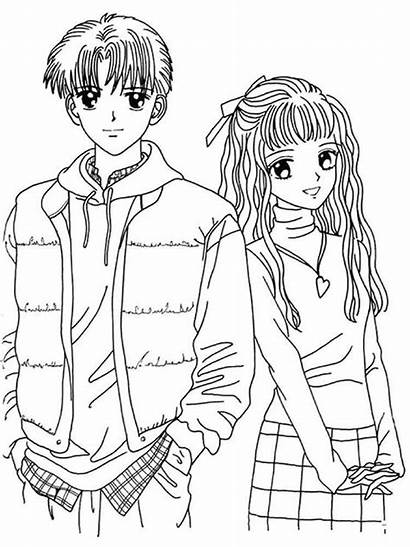 Manga Coloring Pages Printable Colors Bright Recommended