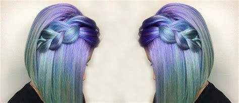 inspirational ideas  braid  purple hair