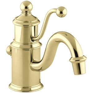 polished brass bathroom faucets single k139 pb antique single bathroom faucet vibrant