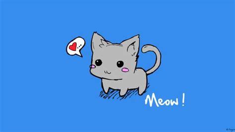 Cute Cartoon Cat Wallpaper