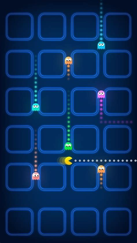 pacman game ghosts speed blur iphone  wallpaper hd
