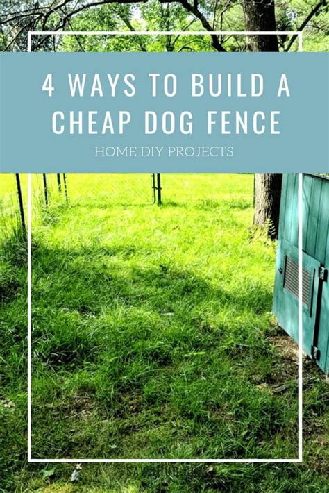 dog fence ideas   build  cheap sawshub