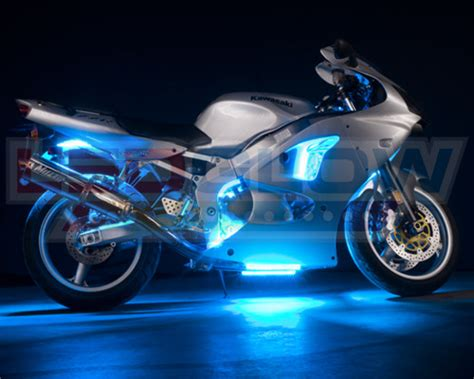 underglow lights for motorcycles 12pc ice blue led motorcycle underglow engine body lights