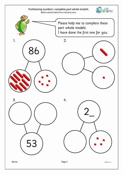 Whole Partitioning Numbers Models Complete Urbrainy Worksheets