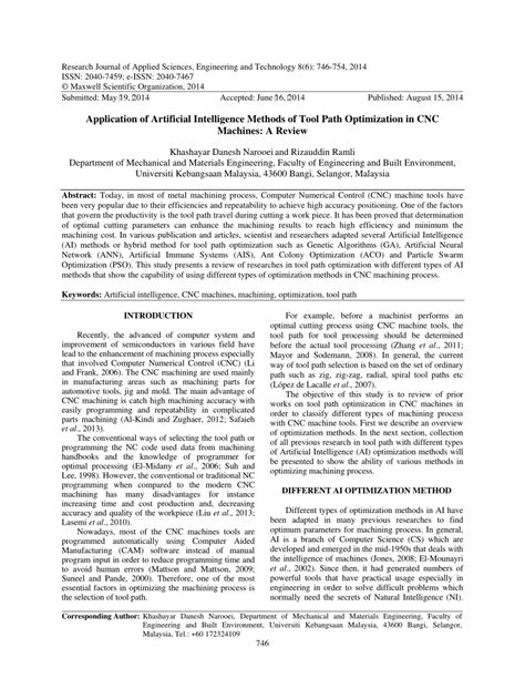 (PDF) Application of Artificial Intelligence Methods of