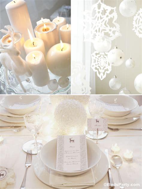 christmas party ideas white winter wonderland dinner