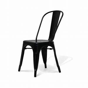 Chaise Style Industriel : chaise indus noire ~ Teatrodelosmanantiales.com Idées de Décoration