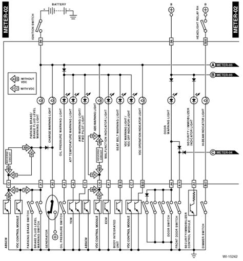 Wire Diagram 99 Forester by I Need The Wiring Diagram For Theinstrument Cluster On A