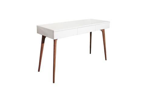 bureau console blanc console bureau design vintage bois blanc retro so dezign