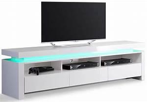 Meuble Tv Banc : meuble tv hifi blanc meuble tv ferme trendsetter ~ Teatrodelosmanantiales.com Idées de Décoration