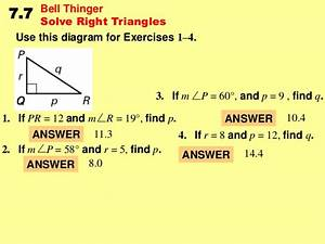 7 7 Solve Right Triangles
