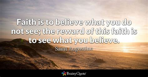 faith          reward