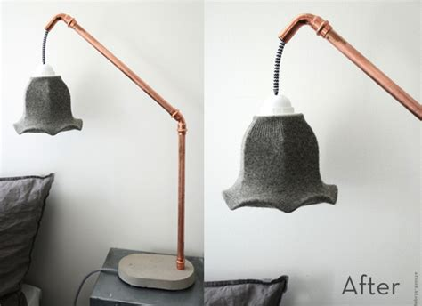 Make A Concrete And Copper Bedside Lamp » Curbly
