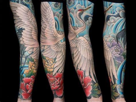 crane tattoo sleeve tattoos pinterest sleeve tattoo