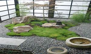 Contemporary asian decor, japanese indoor zen garden