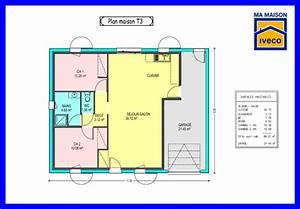 Plan Maison 1 Chambre 1 Salon : plan maison 2 chambre salon cuisine ~ Premium-room.com Idées de Décoration