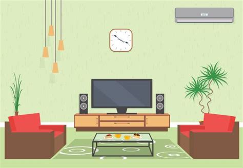 Living Room Clipart by Best Living Room Illustrations Royalty Free Vector