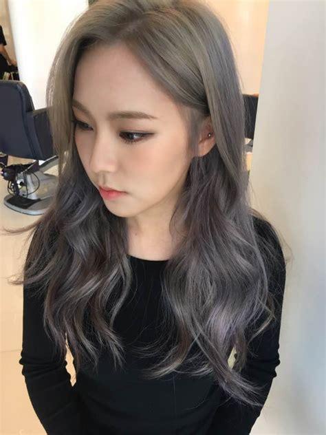 ashy brown hair color the new fall winter 2017 hair color trend kpop korean