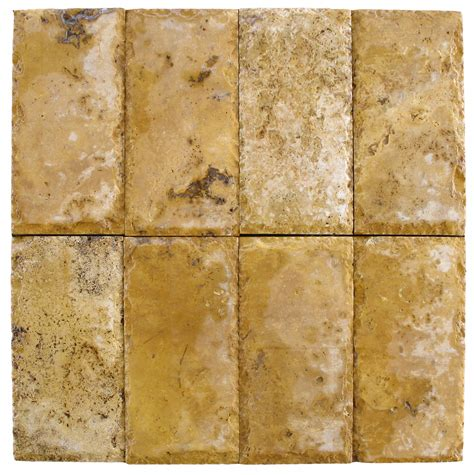 chiseled versus tumbled travertine pavers
