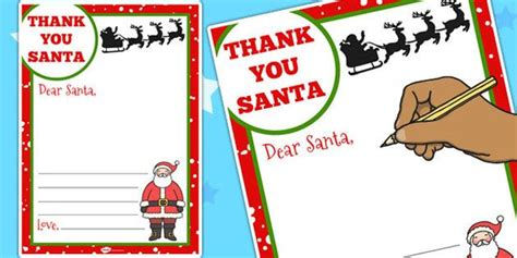 letter  santa template twinkl christmas