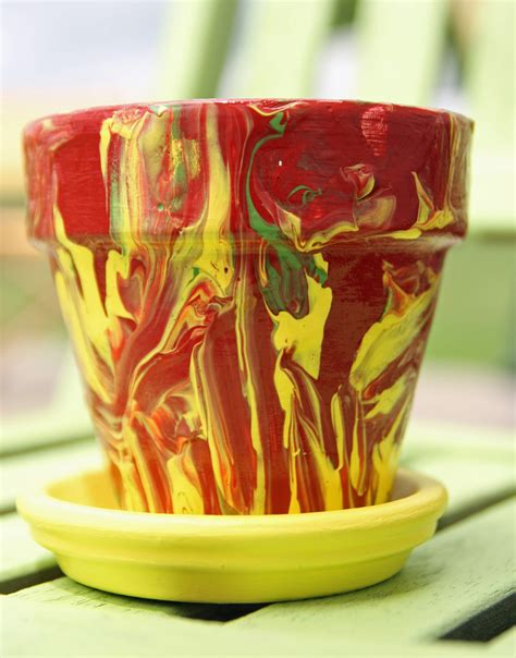 marbled pottery painting fun family crafts