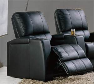 Home theater sofa recliner red leatherette home theater for Best furniture for home theater