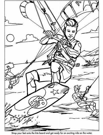 Coloring Pages Sports Extreme Adult Colouring Cloth