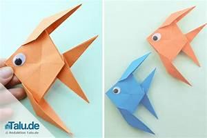 Fische Für Anfänger : origami fisch falten aus papier einfache anleitung ~ Orissabook.com Haus und Dekorationen