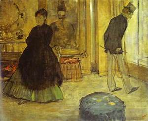 Edgar Degas. Interior with Two People (Intérieur avec deux ...