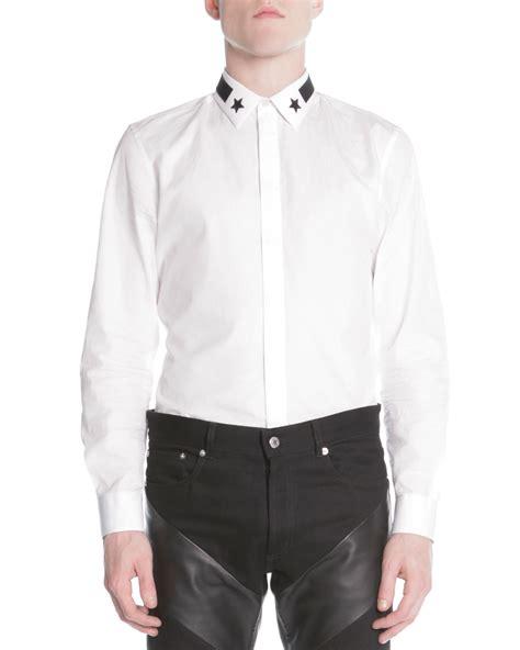 lyst givenchy star stripe collar button  shirt